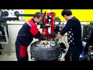 Монтаж бронированного колеса за 250к рублей