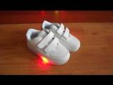 модные светящиеся кроссовки. Видео Н.Михеева.