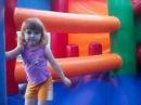 Маша первый раз на надувном батуте Mary at the inflatable trampoline first time