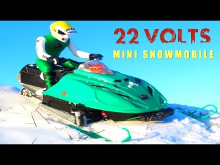 RC ADVENTURES - OVER POWER for my ARCTiC CAT Snowmobile! 22-Volts, 6S Lipo, BL T8 Motor, Art Attack