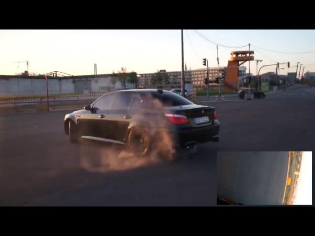 BMW M5 E60 Drift Burnout / БМВ М5 Е60 ДРИФТ,ШАШКИ.