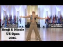 Benji Schwimmer Nicole Clonch US Open Swing 2016