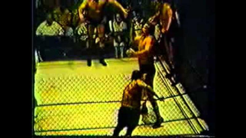 Ole Anderson/Gene Anderson/Art Neilson vs Swede Hansen/Rip Hawk/Gary Hart