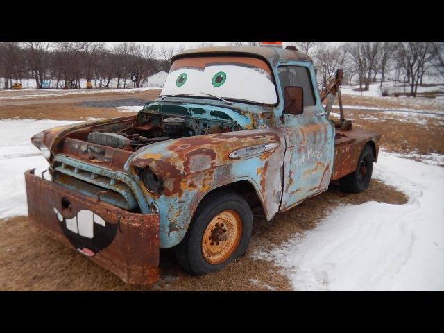Тачки Байки Мэтра прототип главного героя Cars Toons real Mater