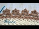 ♥ Цветочная кайма крючком Обвязка края Мастер класс и схема вязания Crochet Flower Edging