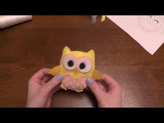 Сова из фетра своими руками/Owl of felt