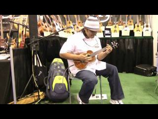 Hawaiian Ukulele virtuoso Derick Sebastian at the NAMM Show 2011