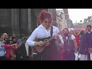 Zahra -- Ukulele Virtuoso, Royal Mile, Edinburgh Festival Fringe (Part 5) 11-08-13