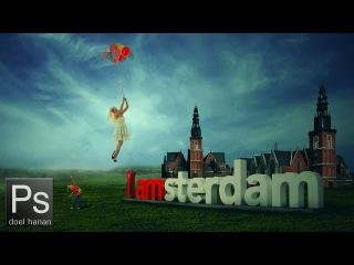 Flying Dutch Girl - Photoshop Manipulation