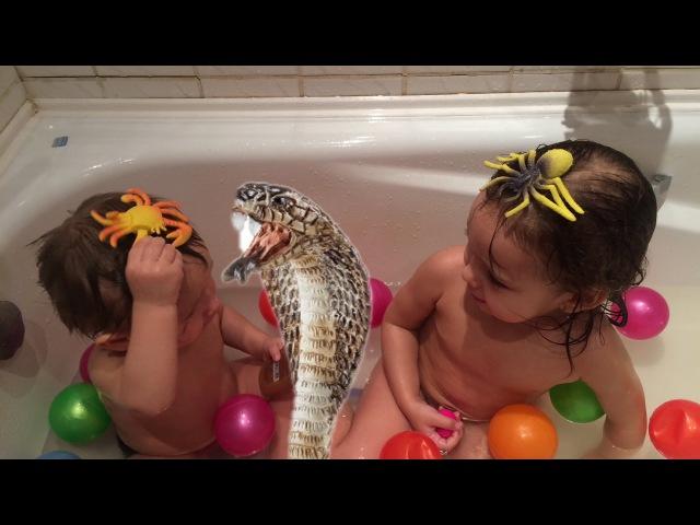 Ванна с ШАРИКАМИ Растим Змею, Паука, Динозавров ВЛОГ VLOG for children Распаковка for kids