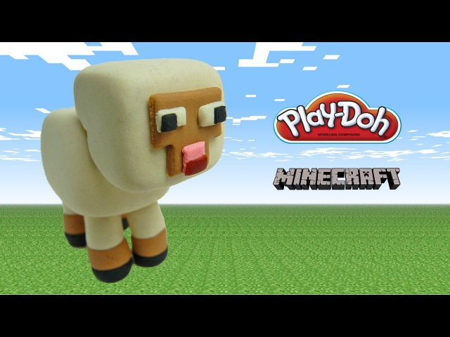 Play doh minecraft sheep - how to make with playdoh