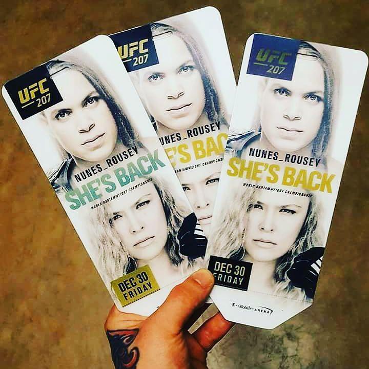 Билеты на UFC 207