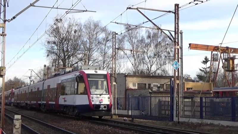 Powrot na WKD EN95-01 po naprawie w PESIE Bydgoszcz