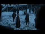 Встреча Джон Сноу и Сансы Старк,долгожднаая встреча брата и сестры.