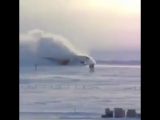 Amazing Landing of a B757 touching down on a Snowy Russian field