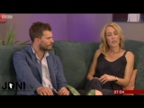 Jamie Dornan Gillian Anderson - (UK Breakfast TV) 27.09.16