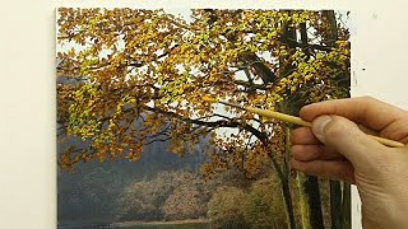 How To Paint An Autumn Tree | Oil Painting Tutorial