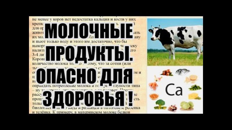 Какой вред от молока и молочных продуктов для человека