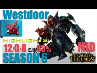 AHQ Westdoor | Zed Mid vs Yasuo Highlights | Pro Replays #104