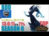 CJE BDD | Lissandra Top vs Fiora | Pro Replays Highlights #83