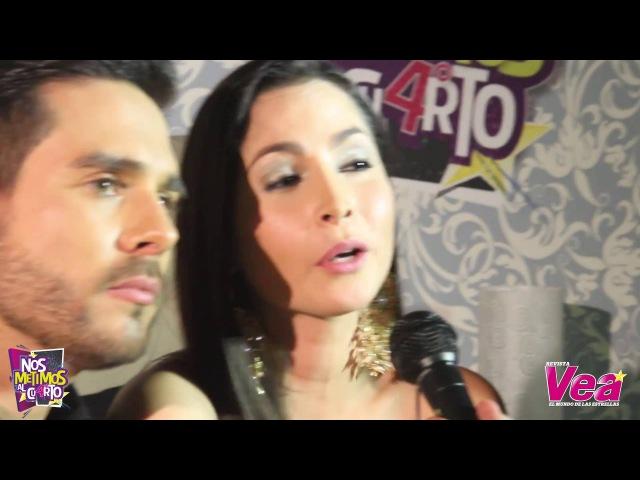 Carmen Villalobos y Sebastián Caicedo en el CuartoAniversarioVea - Revista Vea