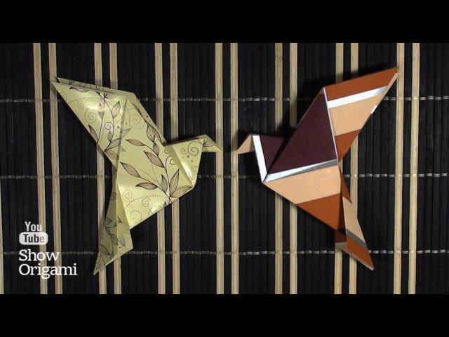 Оригами: Голубь Мира из бумаги