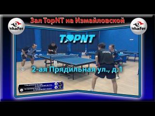 Клуб TopNT УКОЛОВ, СИТНИКОВА - РАЗИНКОВ, ПАТРОГИН Настольный теннис Table Tennis