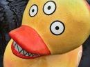 Явь: Акция Утка мутант в Фонтанке / Performance Duck Mutant in Saint-Petersburg