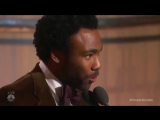 Donald Glover tells a story about growing up and thanks his son and mother of his child during his acceptance speech. #GoldenGlo