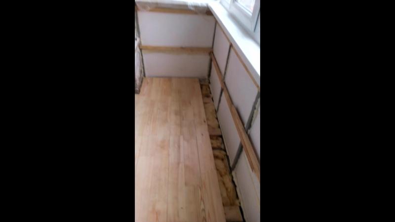 Сваренный и застеклённый балкон. Отделка.1
