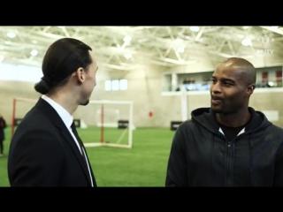 IBRAHIMOVIC MEETS EX-NFL STAR UMENYIORA
