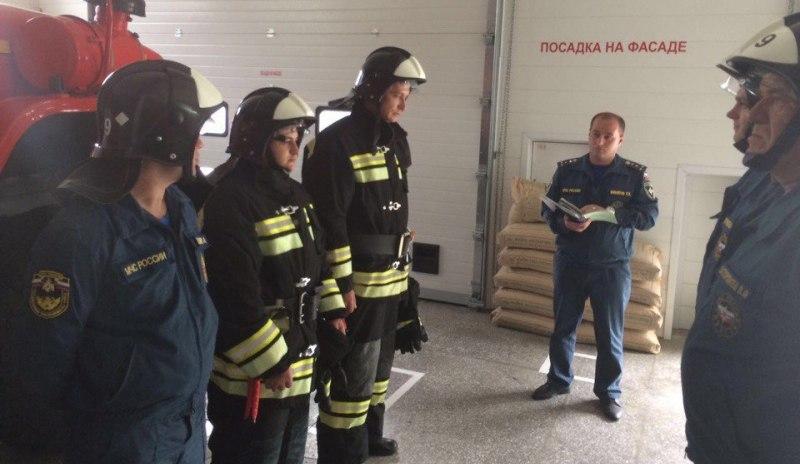 В пожарно-спасательной части поселка Архыз прошли учения