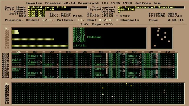 Hybrid song imulse tracker