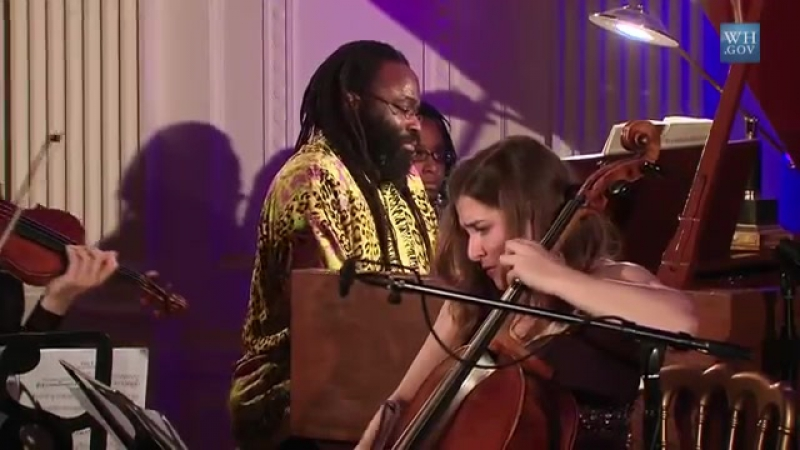 Joshua Bell, Awadagin Pratt, and Alisa Weilerstein Perform at the White House- 8