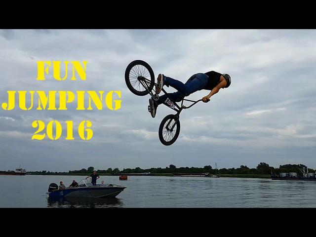 Fun Jumping Kherson 08.2016. Прыжки на велосипедах с трамплина
