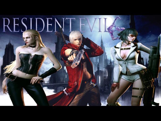 Resident Evil 6 Mods DEVIL MAY CRY 4 (Dante, Lady and Trish)