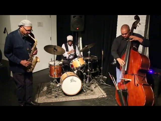 Oliver Lake, Andrew Cyrille, Santi Debriano - at The Stone, NYC - Oct 22 2014