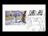 Как нарисовать зимний пейзаж со снеговиком гуашью!