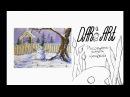 Как нарисовать зимний пейзаж со снеговиком гуашью! Dari_Art