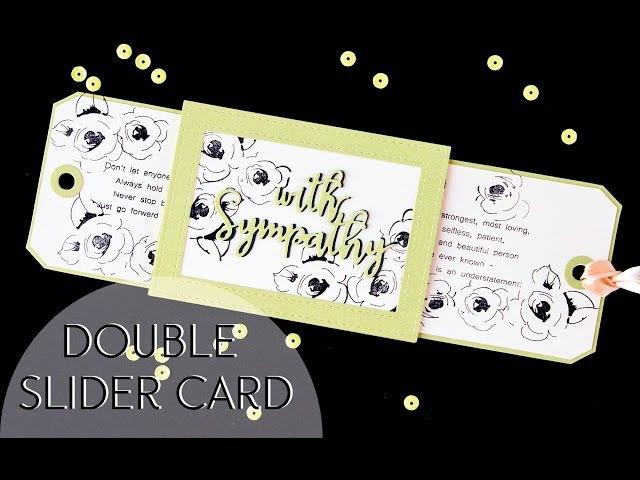 Double Slider card/ Открытка с 2мя выдвижными элементами.