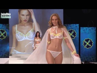 Fashion Lingerie   Luxury lingerie show model Azara   Lagon secret and Naloe bikini fashion show