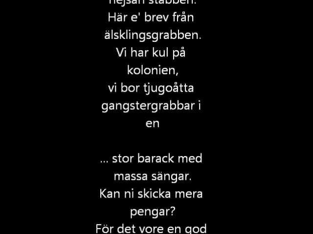 Cornelis Vreeswijk - Brev från Kolonien (Lyrics)