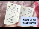 Setting Up My New Bullet-Journal! | Megan Rhiannon