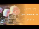 FREE painting lessons No 10. Watercolor PEONIES In Glass Vases PART 1 Artist Jarova