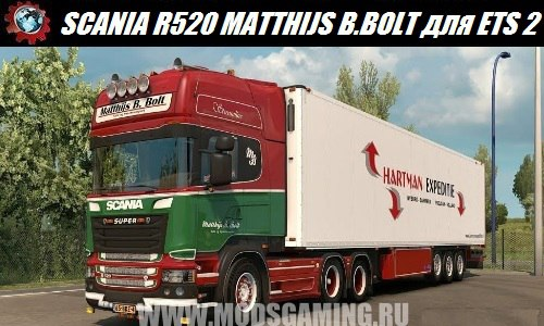 Euro Truck Simulator 2 download mod truck SCANIA R520 MATTHIJS B. BOLT