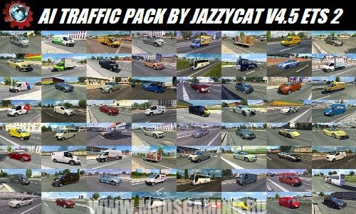 Euro truck simulator 2 download mod AI TRAFFIC PACK BY JAZZYCAT V4.5