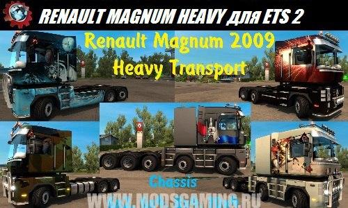 Euro truck simulator 2 download mod truck RENAULT MAGNUM HEAVY TRANSPORT 6X4, 8X4 & 10X4 1.26