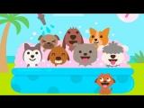 Щенки дошкольники Саго Мини - Учимся и Играем с пёсиком Харви и его друзьями. Развивающий мультфильм