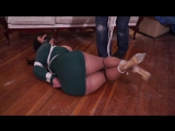 JJ gagged and hogtied