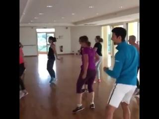 Танец Новака Джоковича
